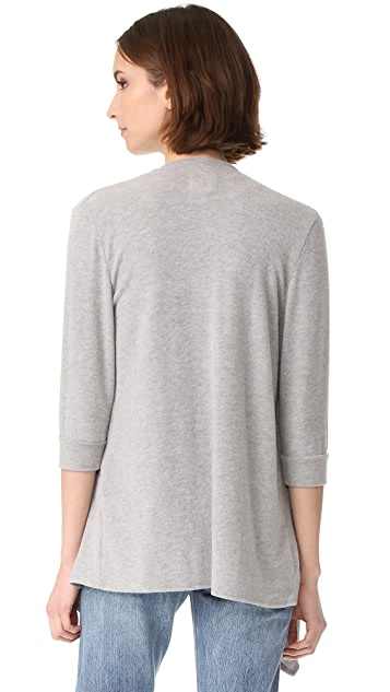 Chaser Drape Front Open Cardigan