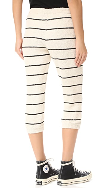 Chaser Striped Slouchy Drawstring Crop Pants