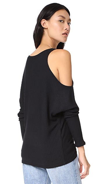 Chaser Cold Shoulder V Neck Top