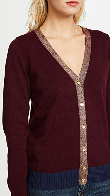 Chaser Metallic Cardigan