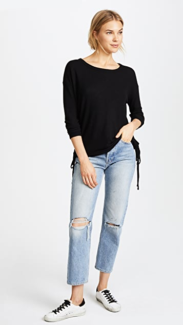 Chaser Side Lace Up Pullover Tee