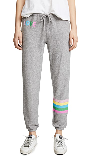 Chaser Rainbow Stripe Sweatpants
