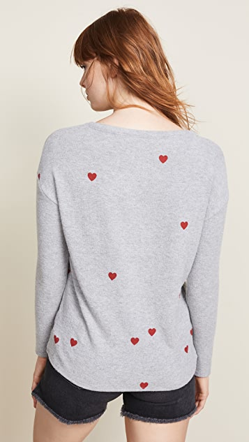 Chaser Tiny Heart Toss Sweatshirt