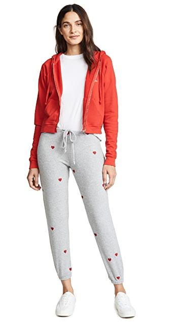 Chaser Tiny Heart Toss Sweatpants