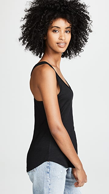 Chaser Seamed Shirttail Racerback Tank Top