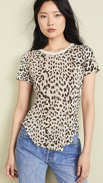 Chaser Shirttail Hem Tee - Animal Print