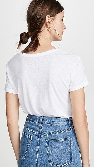 Chaser 复古平针织圆领 T 恤