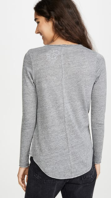 Chaser Triblend Long Sleeve Shirttail Tee