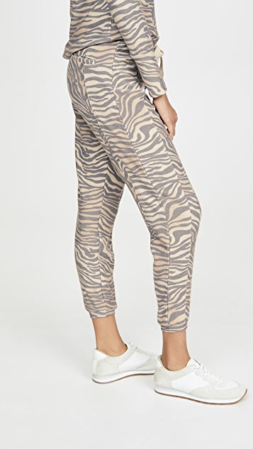 Chaser Cozy Knit Seamed Slouchy Joggers