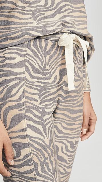 Chaser 舒适针织接缝休闲慢跑长裤