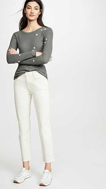 Chaser 蜂窝布长袖圆领 T 恤