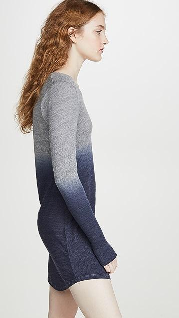 Chaser 三重混纺平纹针织迷你连衣裙