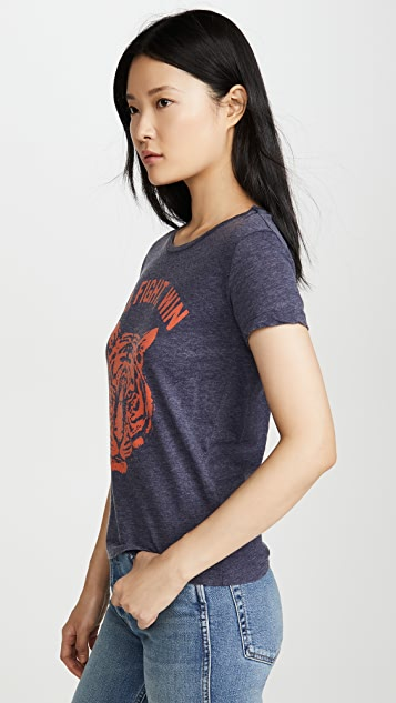 Chaser 复古平纹针织日常 T 恤
