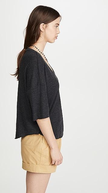 Chaser 平纹针织 V 领 T 恤