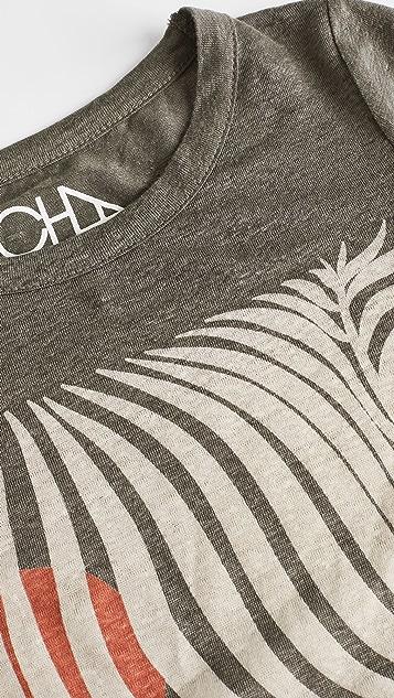 Chaser 亚麻平纹针织圆领 T 恤