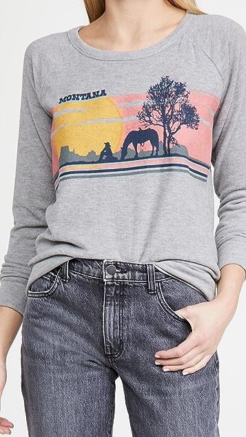 Chaser Love 针织长袖连肩套头衫