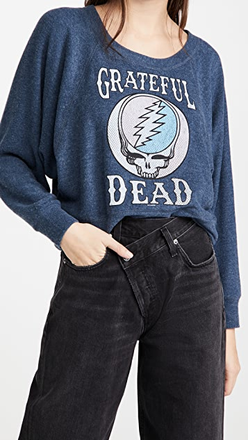Chaser Bliss Knit Cropped Batwing  Sweatshirt