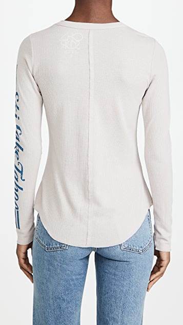 Chaser Heritage Waffle Thermal Shirttail Crew Neck Shirt