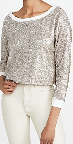 Chaser - Sequin Terry Cropped Pullover