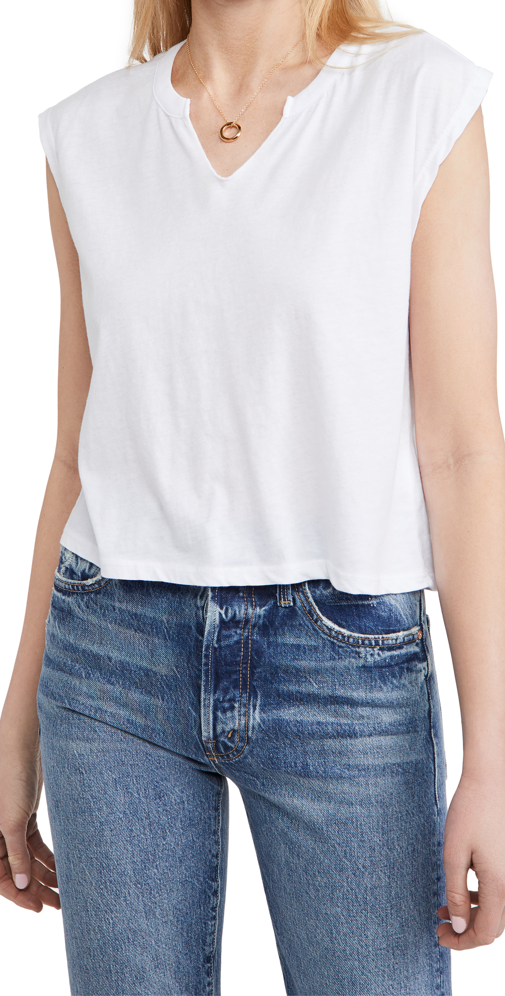 Chaser Vintage Split Neck Boxy Muscle Tee