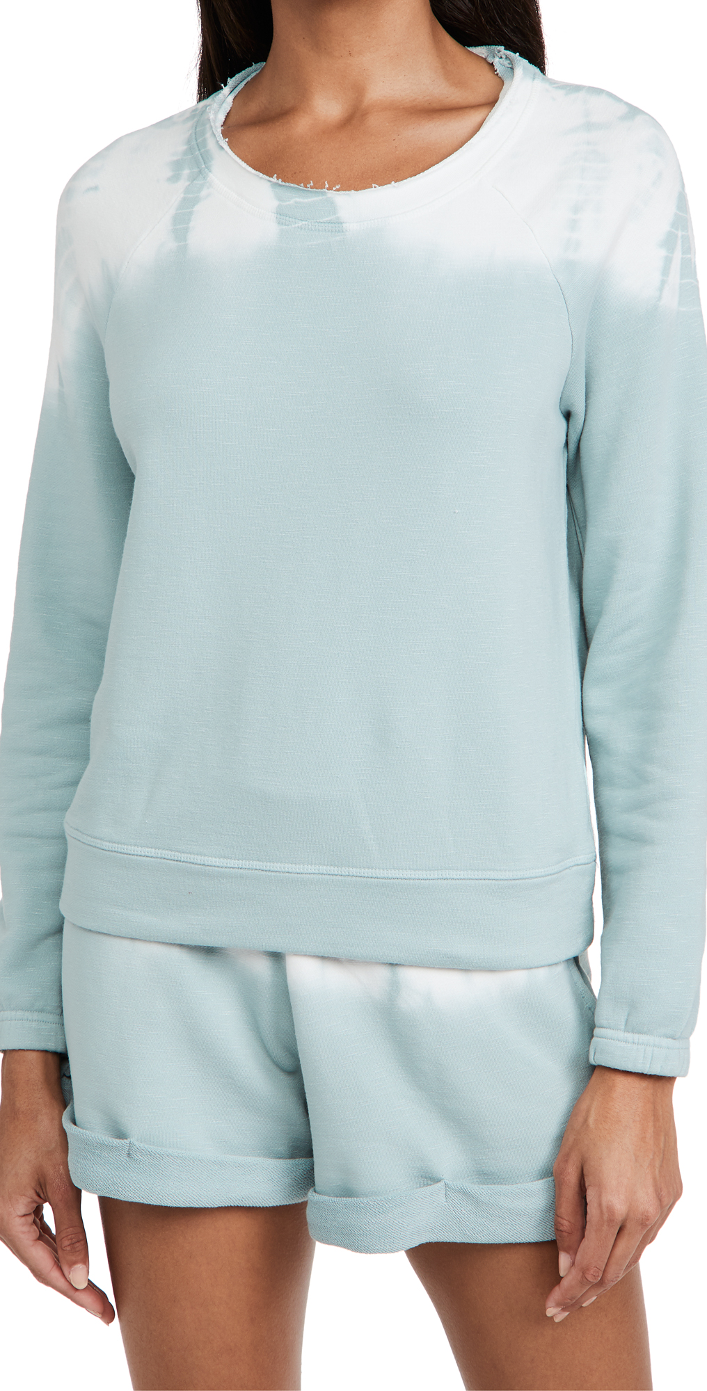 Chaser Slub French Terry Blouson Sleeve Raglan Pullover