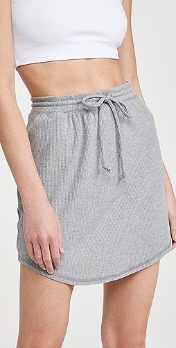 Chaser - RPET 舒适罗纹迷你衬衣下摆半身裙
