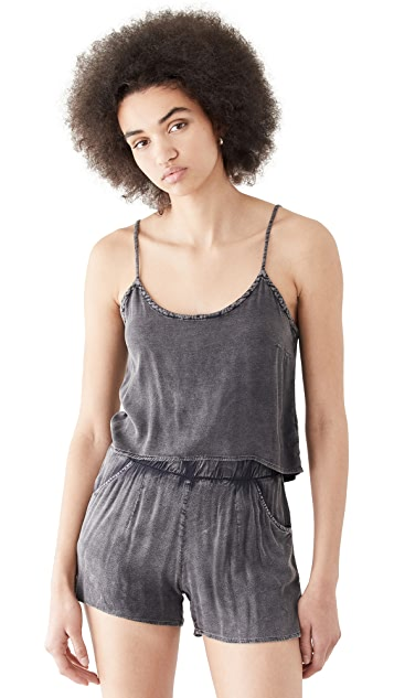 Chaser Heirloom Wovens Cropped Low Back High Lo Cami