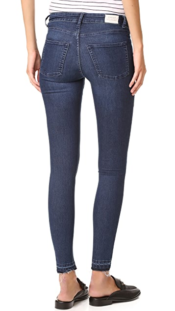Cheap Monday Mid Spray Fall Blue Jeans