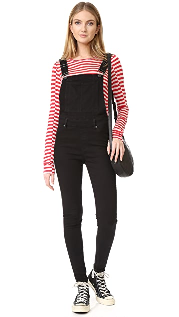 73d202686 Dungaree Spray Black Overalls