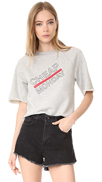 Cheap Monday Look Synth Logo Sweat Tee