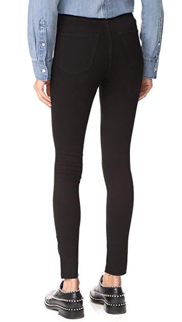 Cheap Monday High Spray Cut Black Jeans