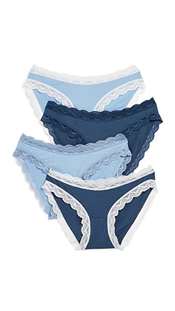 Cheek Frills Denim 4 Pack Panties