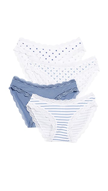 Cheek Frills Classic & Nautical 4 Pack Panties