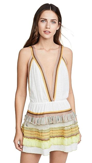 CHIO Мини-платье с разноцветными оборками