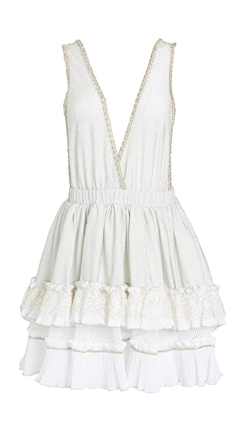 CHIO Halter Embroidered Dress
