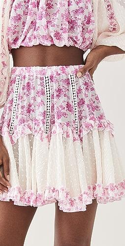 CHIO - 花卉流苏半身裙