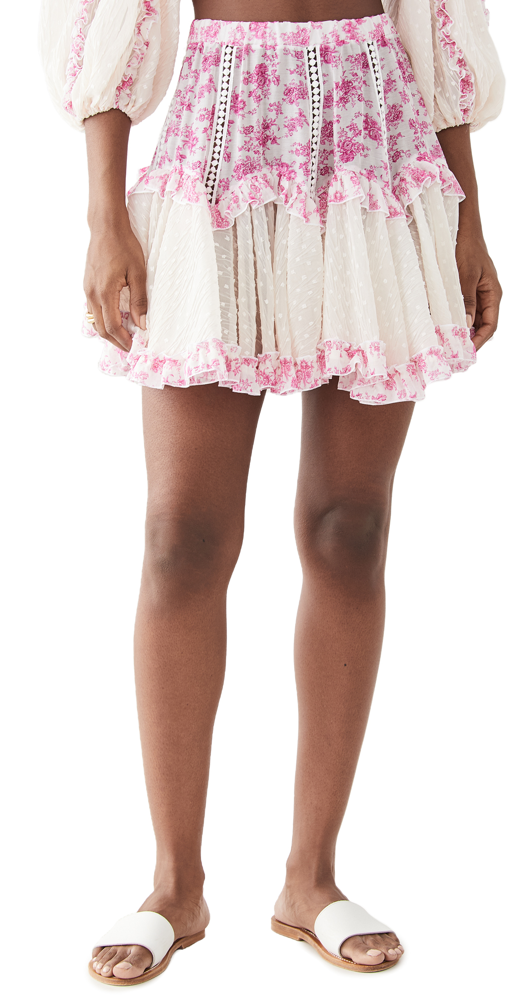 CHIO Floral Frill Short Skirt