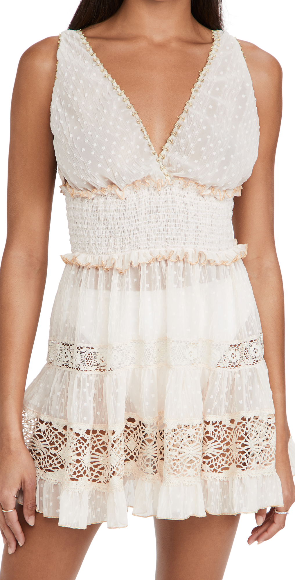 CHIO Short Dress with Lace