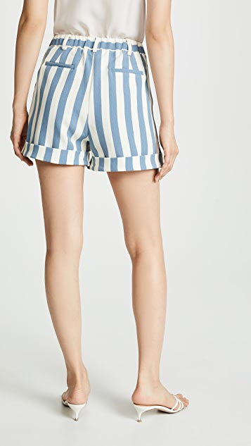 Chriselle Lim Collection Blue Stripe Shorts