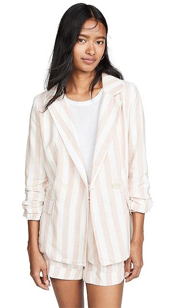 Chriselle Lim Collection 绯红色条纹西装外套