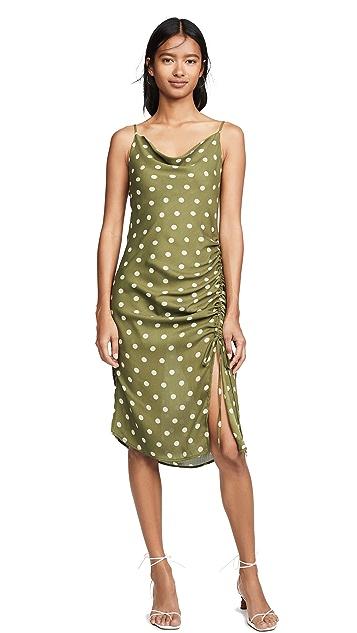 Chriselle Lim Collection Crean Olive Polka Dot Dress