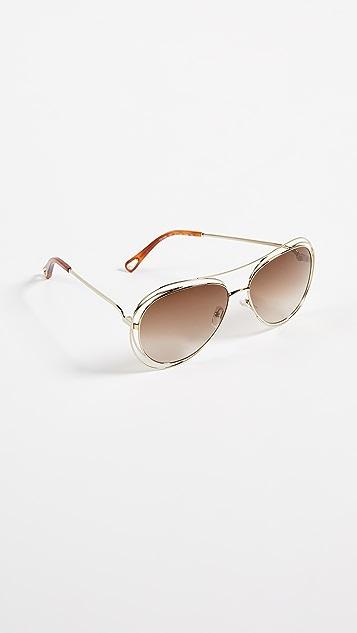 Chloe Солнцезащитные очки «авиаторы»