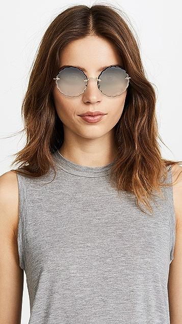 Chloe Солнцезащитные очки Rosie с зубчатым краем