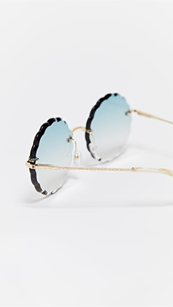 Chloe Rosie Scalloped Sunglasses