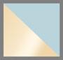 золотой/голубой с плавными переходами цвета