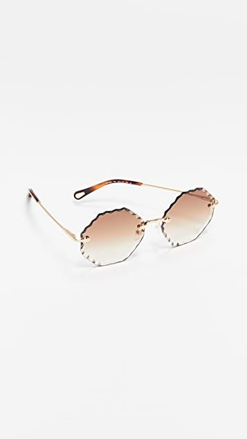 Chloe Rosie Scalloped Sunglasses