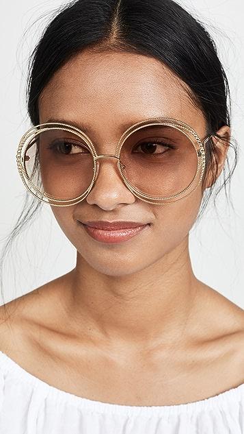 Chloe Carlina Spherical Sunglasses