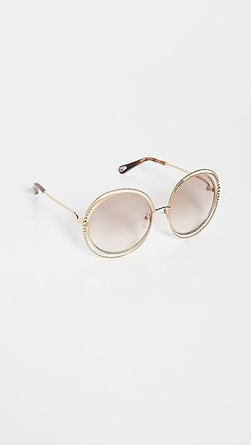 Chloe Солнцезащитные очки Carlina в стиле небесной сферы