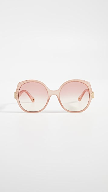 Chloe Vera Oversized Square Sunglasses