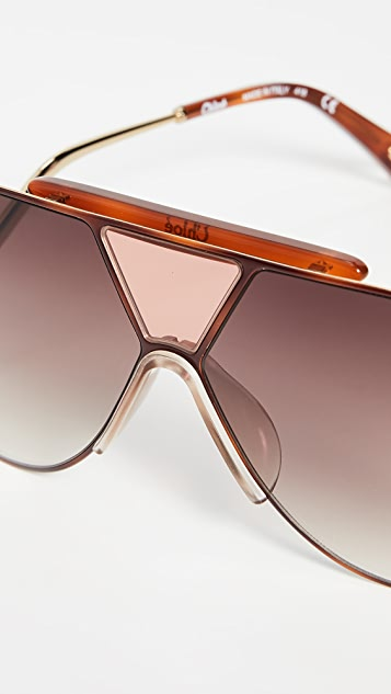Chloe Willis Navigator Shield Sunglasses